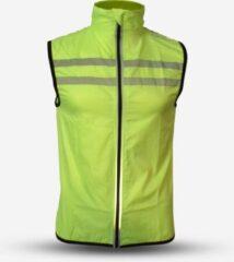 Gato Sports Veiligheidswindbreaker Polyester Geel Maat M