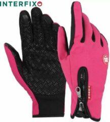 InterFixo Luxe Touch Screen Handschoenen - Roze - Unisex - Waterproof - Heren - Dames - Winter - Grip