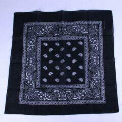 Meneer Bart Zakdoek / bandana zwart 54x54cm