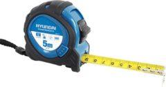 Blauwe Hyundai Power Products Hyundai rolbandmaat 5 meter x 25 mm MID / rolband / rolmaat / rolmeter