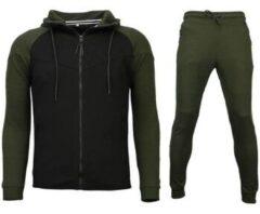 Sixth June Style Italy Trainingspakken Windrunner Basic - Groen / Zwart - Maat: XS