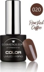 Bruine Cosmetics Zone UV/LED Hybrid Gel Nagellak 7ml. Roasted Coffee 020