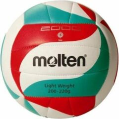 Molten Trainingsvolleybal 5m2000-lightw Wit/rood/groen Maat 5