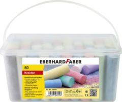 Stoepkrijt Eberhard Faber emmer met 50 krijtjes
