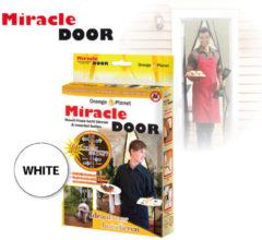 Miracle Door - Lamellenhor voor deuren (met magneet) - 210x100 cm - Wit - Magnetisch Vliegengordijn