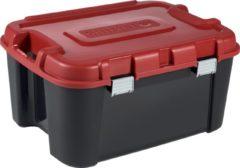 Curver Totem Opbergkist - 140l - L 59,7 x B 79,7 x H 40,8 cm - zwart / rood