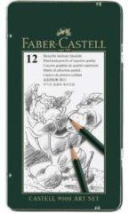 Zwarte Faber-Castell Potlood Faber Castell 9000 Art Set