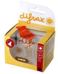 Transparante Difrax Flesspeen Natural small - 2 stuks