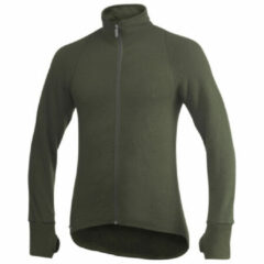Woolpower - Full Zip Jacket 600 - Wollen jack maat 3XL, zwart/olijfgroen
