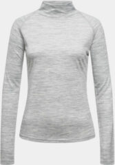 Licht-grijze Supernatural Base Turtle Neck 175 Dames Lichtgrijs Mengeling