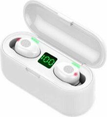 TWS - Draadloze oortjes / in-ear oordopjes - Bluetooth Draadloze buds - Luxe indicator & Telefoon houder in 1 - Geschikt voor alle smartphones o.a Samsung & Iphone, airpods, galaxy buds, huawei, sony - Wit. AANBIEDING! - CADEAUTIP!
