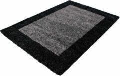 Antraciet-grijze Decor24-AY Hoogpolig vloerkleed Life - antraciet - grijs - 200x290 cm