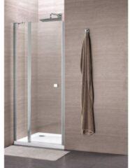 Royal Plaza Clever draaideur 90x195cm met vast paneel chroom profiel helder glas met Clean coating 55848