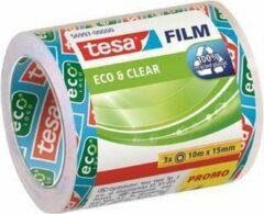Witte Tesafilm eco&clear 3 Rollen Promo Shrink 10m 15mm