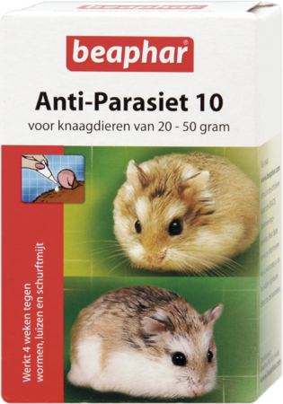 Afbeelding van Beaphar Anti-Parasiet 10 Knaag - Parasieten - 2 pip 20 - 50 G