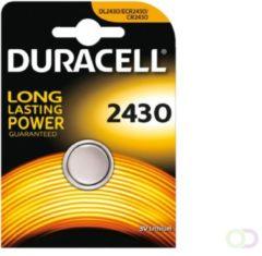 Batterij Duracell knoopcel CR2430 lithium Ø24mm 3V-280mAh