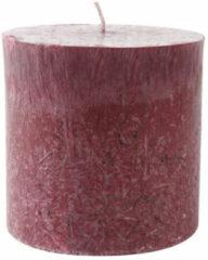 Blokkaars, bordeauxrood Ø 7 x h 16 cm, 560 g. Brandduur ca. 75 uur