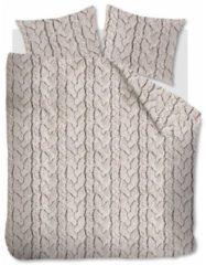 Gebroken-witte Ambiante Lars - Flanel - Dekbedovertrek - Eenpersoons - 140x200/220 cm + 1 kussensloop 60x70 cm - Off-white