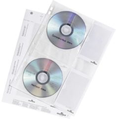 Durable CD Hoezen, A4, 4CD, Transparant, 5Pcs. (5222-19)