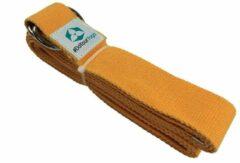 #DoYourYoga - Yogariem - »Madira« - 100% katoen met stabiele metalen ringsluiting - 260 x 3,8 cm - geel