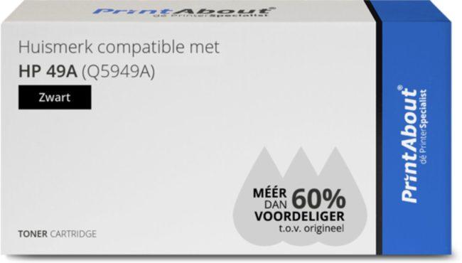 Afbeelding van PrintAbout Huismerk compatible met HP 49A (Q5949A) Toner Zwart