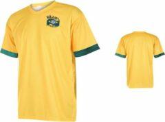 Gele Holland Brazilie Voetbalshirt Thuis Eigen Naam