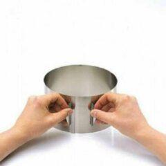 Zilveren Set van 4 - Verstelbare kookring / taartring, 8.5cm - Gefu