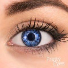 Donkerblauwe Pretty Eyes kleurlenzen - donker blauw - 2 stuks - maandlenzen