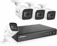 Witte ANNKE ACS-8 DT81DP-BL - CCTV Beveiligingscamera set - 8MP - Met 8 kanalen - Met afstandsbediening