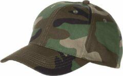 MFH US Army cap legerpet met klep woodland in grootte verstelbaar