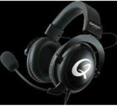 Zwarte QPAD - QH-92 High End Stereo Gaming Headset, Gesloten Oor, Ruisonderdrukking afneembare Microfoon, Multiplatform