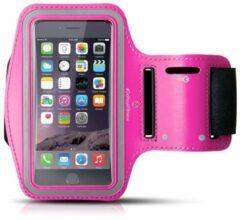 #DoYourFitness - Sportarmband - »RunnerGirl« - Sportarmband geschikt voor mobiele telefoon - MEDIUM (138x68x7 - 146x74x10mm) 50CM armomvang - roze