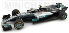 Zilveren Formule 1 Mercedes AMG Petronas Formula One Team F1 W08 EQ Power+ #77 Spanish GP 2017 - 1:43 - Minichamps