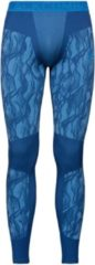 Blauwe Odlo Bl Bottom Long Blackcomb Heren Sportonderbroek - Estate Blue-Directoire Blue - Maat S