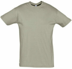 Kaki T-shirt Korte Mouw Sols REGENT COLORS MEN