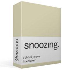 Snoozing dubbel jersey hoeslaken - 100% dubbel gebreide katoen - 2-persoons (140x200 cm) - Zand