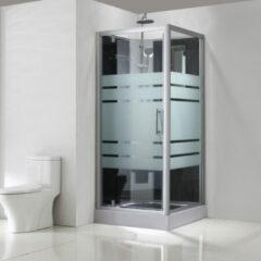 Sub complete douchecabine met draaideur 80x80x218 cm, aluminium/glas