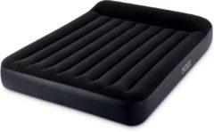 Donkerblauwe Intex Pillow Rest Classic Queen Luchtbed - 2-persoons - 203 x 152 x 25 cm - Met ingebouwde luchtpomp
