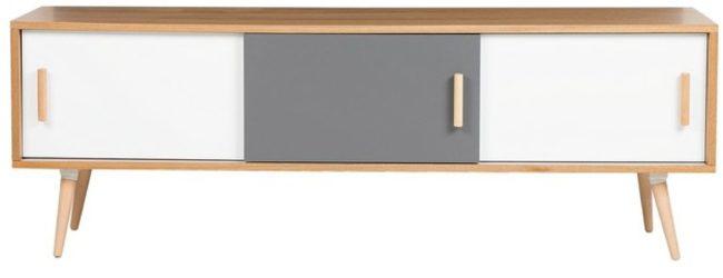 Afbeelding van Witte Beliani Indiana Tv-meubel Mdf 40 X 160 Cm