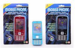 Merkloos / Sans marque Speelgoed mobiele telefoon met geluid Licht blauw