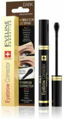 Donkerbruine Eveline Cosmetics Eveline - Eyebrow Corrector 5w1 korektor do brwi Dark 9ml
