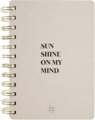 Zusss Decoratieve objecten Notitieboekje Sunshine Beige