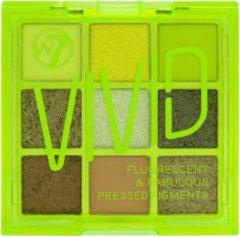 Groene W7 Oogschaduw Palette Vivid Pressed Pigment Glowin' Green