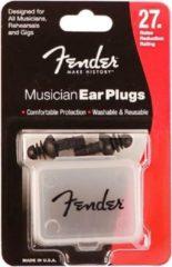 Zwarte Gehoorbescherming Musician Series Silicone Ear Plugs FENDER
