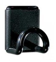 Zwarte Unilux muurkapstok uit ABS, magnetisch, 1 haak