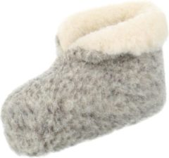 Chimb Pantoffels 100% lamswol maat 37 | Grijs-Wit | Sloffen | Heerlijk warm!