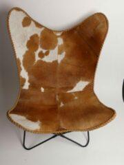 Beige Mars & More Vlinderstoel koe rood bruin (zelfmont.) max.100kg