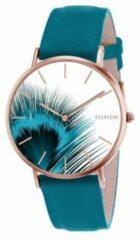Clueless Horloges- Clueless horloge met turquoise leren band
