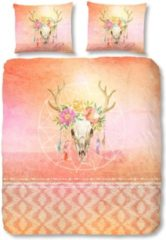 Oranje Dekbedovertrek Skully - 2-persoons (200 x 200/220 cm) - Katoen - Meerkleurig | Multi | Multicolor - Good Morning