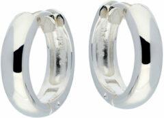 Best Basics Zilveren klapcreolen - ronde buis 4 mm 107.0068.16